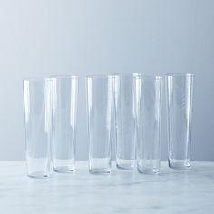 Etched Botanical Glass (Set of 6)