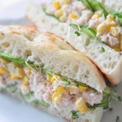 Crab and corn sandwich