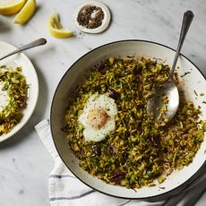 Brussels Sprouts Hash & Eggs