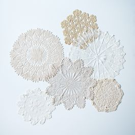 Vintage Crocheted Doilies, Set of 2
