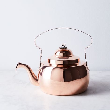 Vintage Copper Georgian Tea Kettle, Large, Mid 19th Century