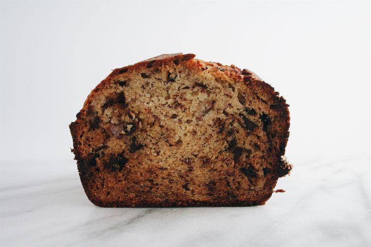 Dark Chocolate Chip Banana Bread
