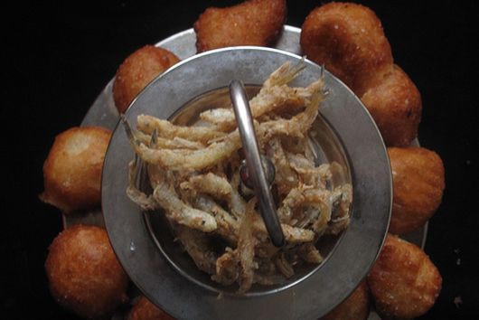 Nigerian puff-puff (and fish)