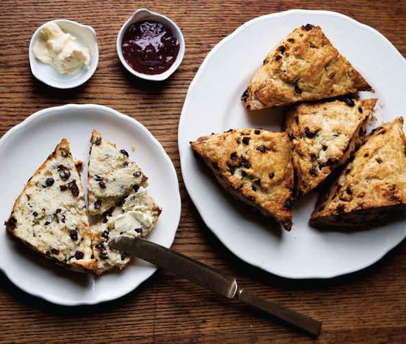 Currant Rosemary Scones