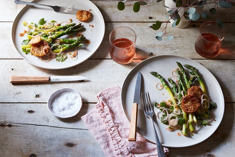 Thai-Inspired Asparagus Salad with Fried Meyer Lemon