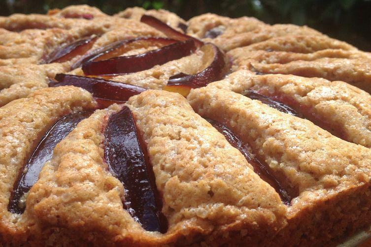 Crispy Crunchy Summer Plum Torte