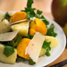 Apple and Persimmon Fall Salad
