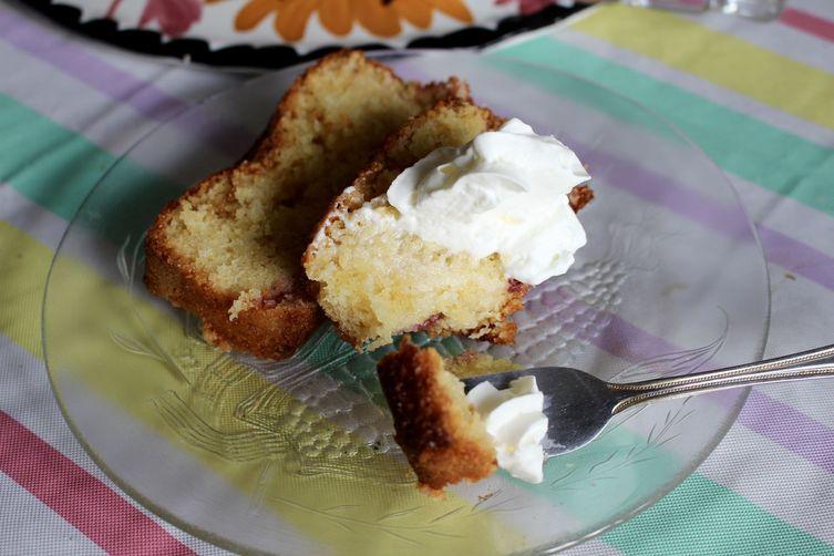 Lemon & Strawberry Loaf Cake