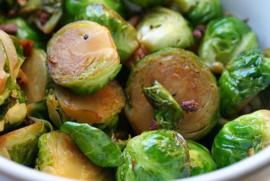 Garlicky Stir Fried Brussels Sprouts with Szechuan Peppercorns