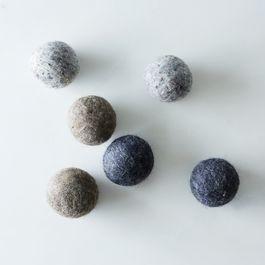 Grey Wool Dryer Balls (Set of 6)