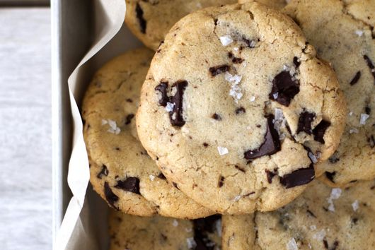 Olive Oil + Dark Chocolate Chip Cookies