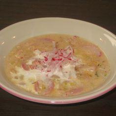 Crème de Radish-Pancetta Soup