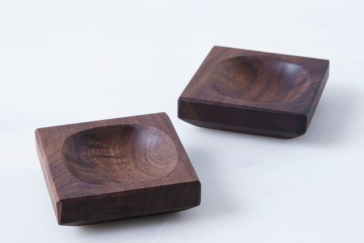 Reclaimed Wood Pinch Bowls (Set of 2)
