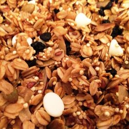 Blueberry White Chocolate Granola--with a Quinoa Crunch!