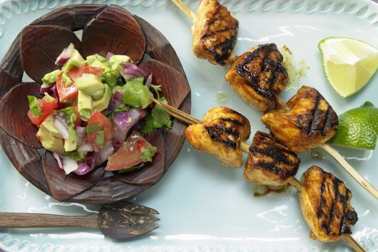 Tamarind Chicken Skewers
