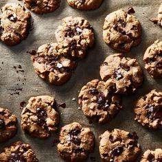Vegan Chocolate Chunk Cookies with Flaky Sea Salt