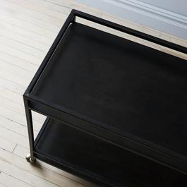 Blackened Steel Bar Cart