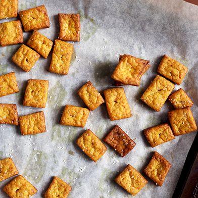 Cheesy Turmeric Crackers