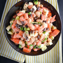 Black & White Bean Salad With Tomato And Fresh Mozzarella