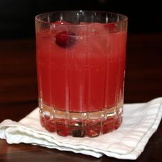 Cranberry-Rosemary Sparkler