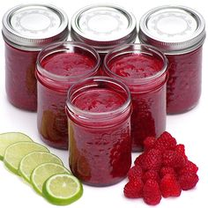 No Cook Raspberry-Lime Freezer Jam