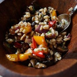 Farro Salad with Balsamic Roasted Vegetables