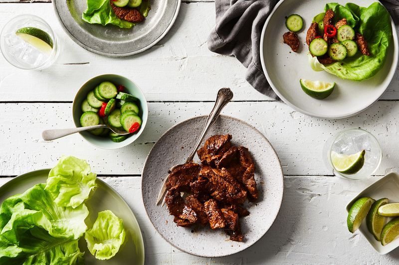 Lettuce wraps are just one of the many ways you can cook with Smithfield Prime Boneless Fresh Pork Loin.