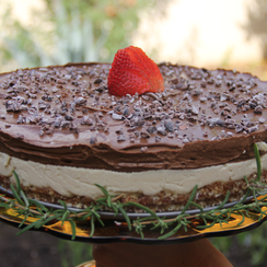 """""""Nuts to Date Me"""" Raw Cheesecake with Avocado Mousse"""