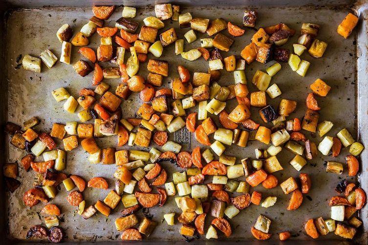 Crisp and Tender Roasted Root Vegetables