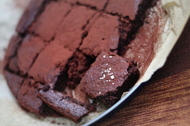 Salted chocolate cake with leftover nutmilk pulp