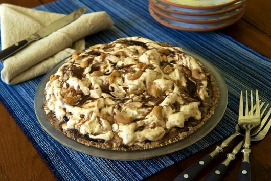 Hot Fudge Peanut Butter Ice Cream Pie