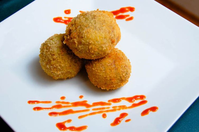 Deep Fried Pork & Potato Balls