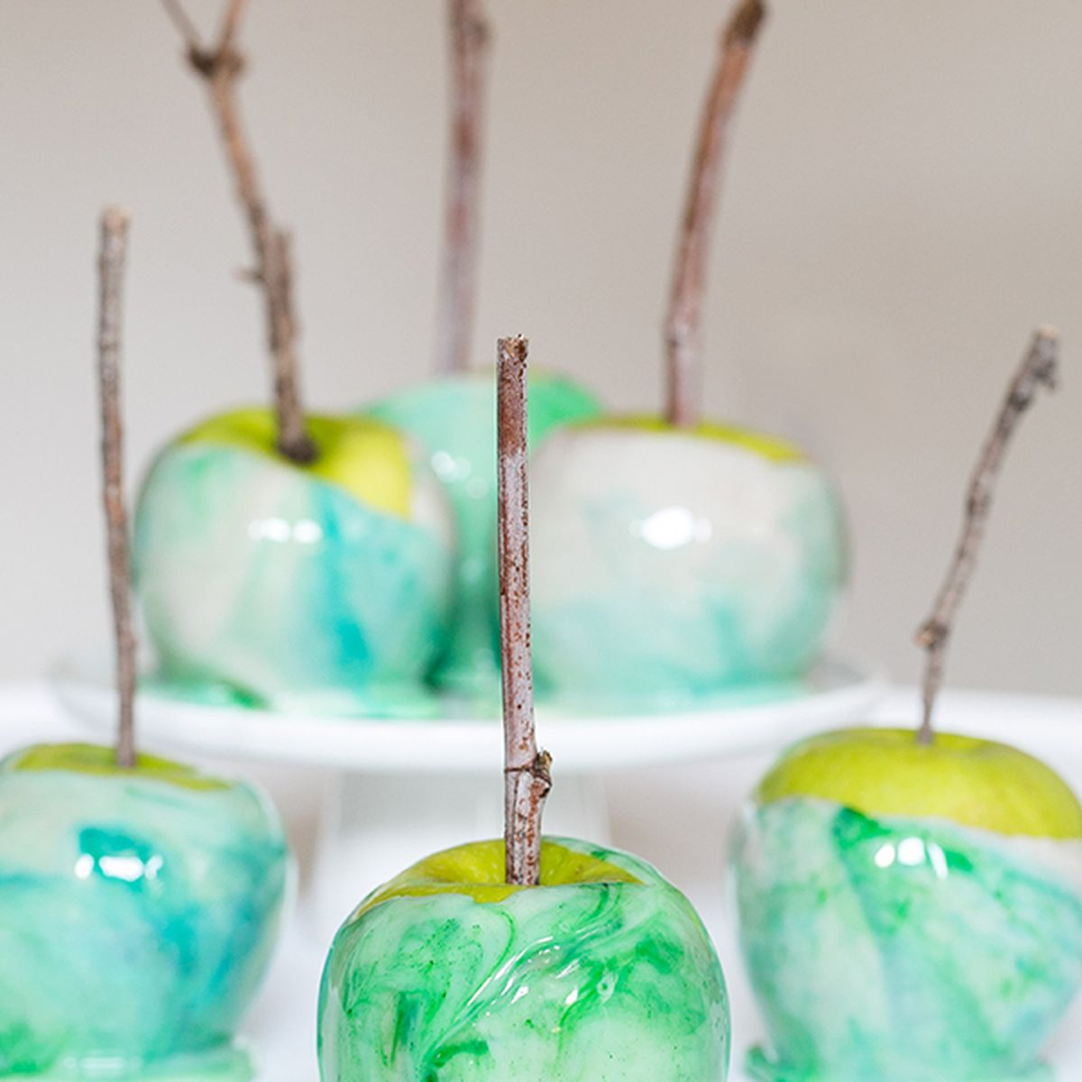 Marbled Candy Apples Recipe on Food52