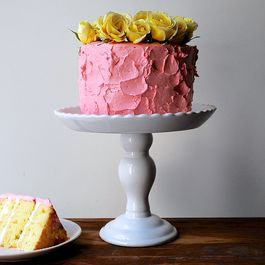 1-2-3-4 Cake with Raspberry Buttercream