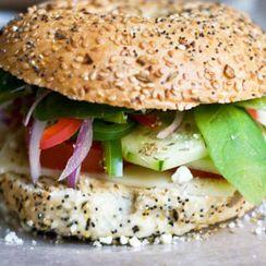 Fresh Veggie Bagel Sandwich - Snacks