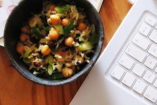 warm spring onion salad