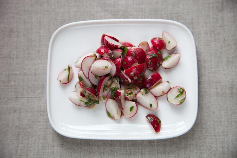 Radish Salad with Anchovy Sauce