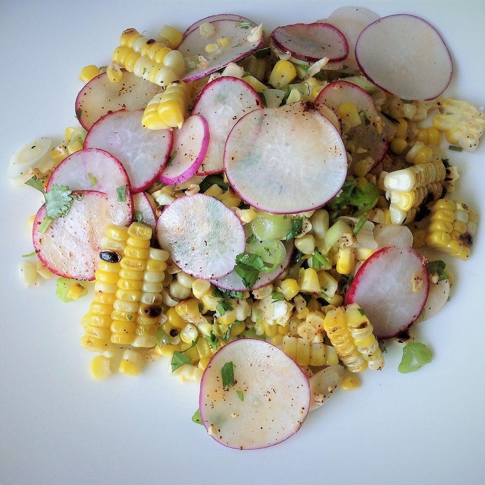 Grilled Corn And Easter Egg Radish Salad Recipe On Food52