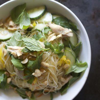 Summer Vegetable and Glass Noodle Salad