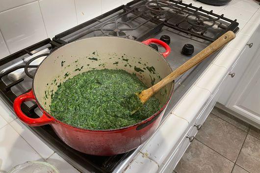 Mom's Creamed Spinach à la Julia