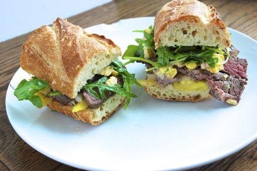 Mango steak sandwich
