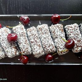 Chocolate Cherry & Coconut Breakfast Bars