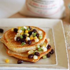 Toasted Cornmeal Cakes with Salsa