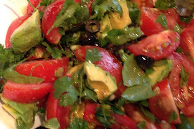 Tomato  Avocado Salad with Rice
