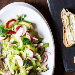 Celery Salad and Cheese on Toast