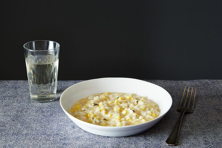 Corn risotto from Food52