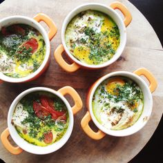 Oeuf Cocotte - little pans filled with love, for breakfast!