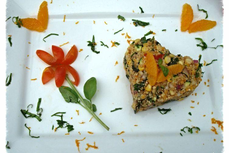 Orange Basil Quinoa Salad