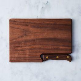 Walnut Travel Cutting Board & Knife
