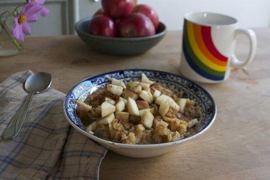 Apple Cinnamon Red Lentil Porridge